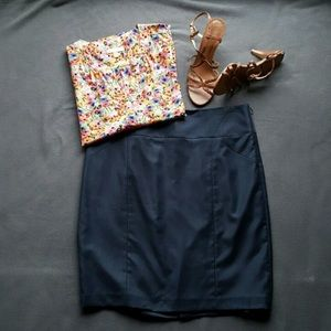 Limited Navy Pencil Skirt